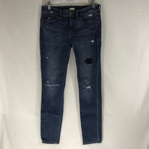 J Crew Distressed Skinny Leg Jeans